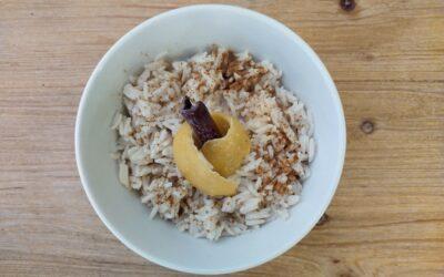 Arròs amb llet vegetal – esmorzar