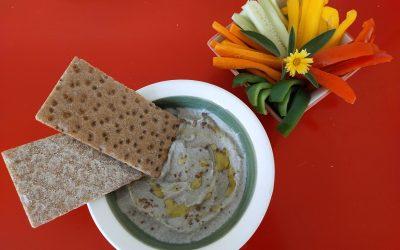 Babaganoush amb crudités i torrades-sopar